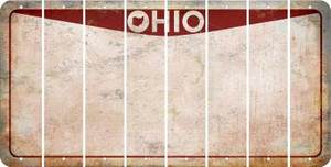 Ohio BLANK Cut License Plate Strips (Set of 8) LPS-OH1-037