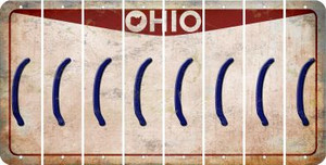 Ohio LEFT PARENTHESIS Cut License Plate Strips (Set of 8) LPS-OH1-045