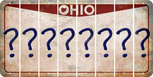 Ohio QUESTION MARK Cut License Plate Strips (Set of 8) LPS-OH1-047