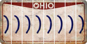 Ohio RIGHT PARENTHESIS Cut License Plate Strips (Set of 8) LPS-OH1-048