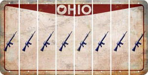 Ohio M16 RIFLE Cut License Plate Strips (Set of 8) LPS-OH1-052