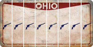 Ohio PISTOL Cut License Plate Strips (Set of 8) LPS-OH1-053