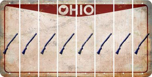 Ohio SHOTGUN Cut License Plate Strips (Set of 8) LPS-OH1-054