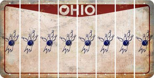 Ohio BOWLING Cut License Plate Strips (Set of 8) LPS-OH1-059