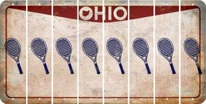 Ohio TENNIS Cut License Plate Strips (Set of 8) LPS-OH1-064