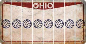 Ohio VOLLEYBALL Cut License Plate Strips (Set of 8) LPS-OH1-065