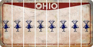 Ohio TEEN GIRL Cut License Plate Strips (Set of 8) LPS-OH1-069