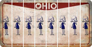 Ohio MOM Cut License Plate Strips (Set of 8) LPS-OH1-070
