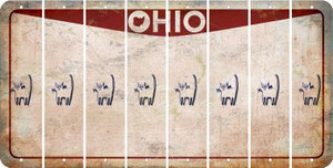 Ohio CAT Cut License Plate Strips (Set of 8) LPS-OH1-072