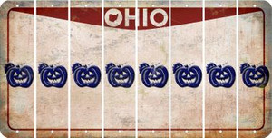 Ohio PUMPKIN Cut License Plate Strips (Set of 8) LPS-OH1-075