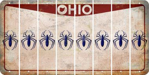 Ohio SPIDER Cut License Plate Strips (Set of 8) LPS-OH1-076