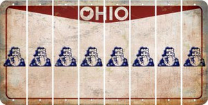 Ohio SANTA Cut License Plate Strips (Set of 8) LPS-OH1-078
