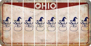 Ohio SNOWMAN Cut License Plate Strips (Set of 8) LPS-OH1-079
