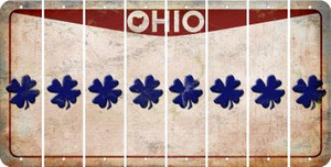 Ohio SHAMROCK Cut License Plate Strips (Set of 8) LPS-OH1-082