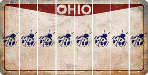 Ohio LADYBUG Cut License Plate Strips (Set of 8) LPS-OH1-087