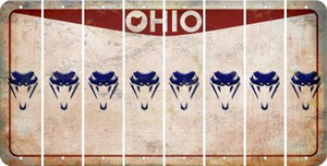 Ohio SNAKE Cut License Plate Strips (Set of 8) LPS-OH1-088