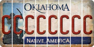 Oklahoma C Cut License Plate Strips (Set of 8) LPS-OK1-003