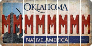 Oklahoma M Cut License Plate Strips (Set of 8) LPS-OK1-013