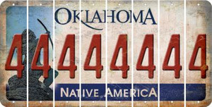 Oklahoma 4 Cut License Plate Strips (Set of 8) LPS-OK1-031