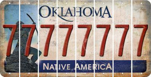 Oklahoma 7 Cut License Plate Strips (Set of 8) LPS-OK1-034