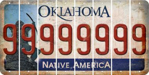 Oklahoma 9 Cut License Plate Strips (Set of 8) LPS-OK1-036