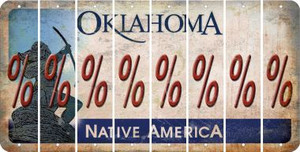 Oklahoma PERCENT SIGN Cut License Plate Strips (Set of 8) LPS-OK1-046