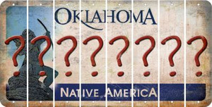 Oklahoma QUESTION MARK Cut License Plate Strips (Set of 8) LPS-OK1-047
