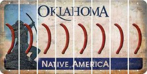 Oklahoma RIGHT PARENTHESIS Cut License Plate Strips (Set of 8) LPS-OK1-048