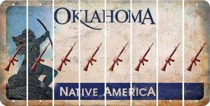 Oklahoma M16 RIFLE Cut License Plate Strips (Set of 8) LPS-OK1-052