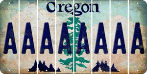 Oregon A Cut License Plate Strips (Set of 8) LPS-OR1-001
