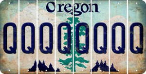 Oregon Q Cut License Plate Strips (Set of 8) LPS-OR1-017