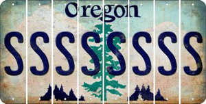 Oregon S Cut License Plate Strips (Set of 8) LPS-OR1-019