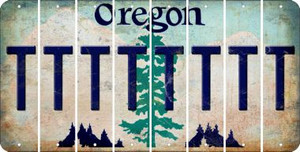 Oregon T Cut License Plate Strips (Set of 8) LPS-OR1-020