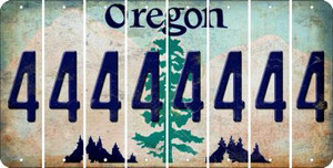 Oregon 4 Cut License Plate Strips (Set of 8) LPS-OR1-031