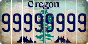 Oregon 9 Cut License Plate Strips (Set of 8) LPS-OR1-036