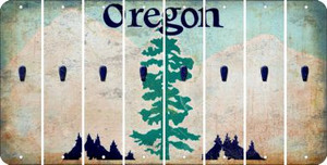 Oregon APOSTROPHE Cut License Plate Strips (Set of 8) LPS-OR1-038