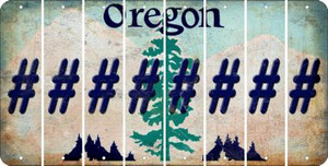 Oregon HASHTAG Cut License Plate Strips (Set of 8) LPS-OR1-043