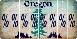 Oregon PERCENT SIGN Cut License Plate Strips (Set of 8) LPS-OR1-046