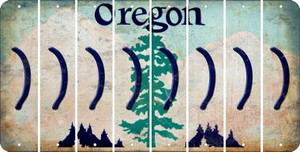 Oregon RIGHT PARENTHESIS Cut License Plate Strips (Set of 8) LPS-OR1-048