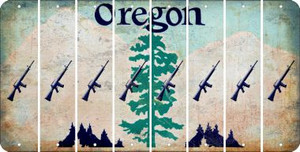 Oregon M16 RIFLE Cut License Plate Strips (Set of 8) LPS-OR1-052