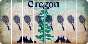 Oregon TENNIS Cut License Plate Strips (Set of 8) LPS-OR1-064