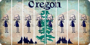 Oregon MOM Cut License Plate Strips (Set of 8) LPS-OR1-070