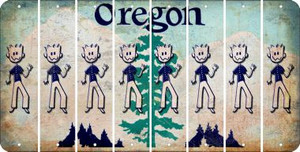 Oregon DAD Cut License Plate Strips (Set of 8) LPS-OR1-071
