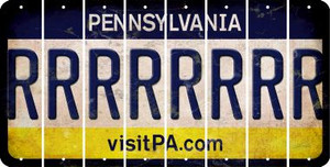 Pennsylvania R Cut License Plate Strips (Set of 8) LPS-PA1-018
