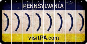 Pennsylvania RIGHT PARENTHESIS Cut License Plate Strips (Set of 8) LPS-PA1-048
