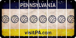 Pennsylvania VOLLEYBALL Cut License Plate Strips (Set of 8) LPS-PA1-065