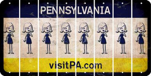 Pennsylvania MOM Cut License Plate Strips (Set of 8) LPS-PA1-070