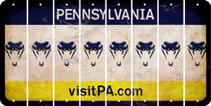 Pennsylvania SNAKE Cut License Plate Strips (Set of 8) LPS-PA1-088