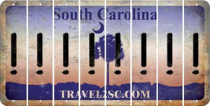 South Carolina EXCLAMATION POINT Cut License Plate Strips (Set of 8) LPS-SC1-041