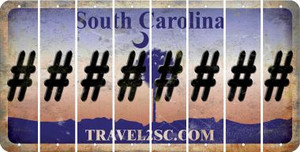 South Carolina HASHTAG Cut License Plate Strips (Set of 8) LPS-SC1-043